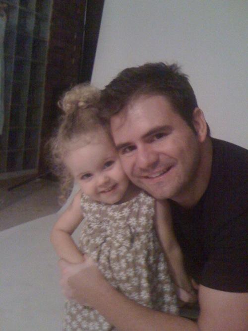 El fotógrafo Vicente Alfonso con su sobrina Estela