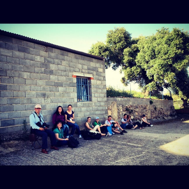 Grupo de alumnos del fotógrafo profesional Vicente Alfonso