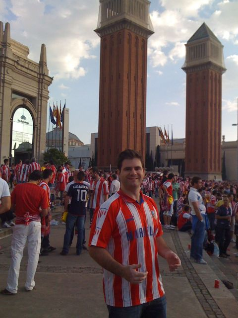 Final de la copa del rey del 2010 en el Camp Nou, Atlético Madrid